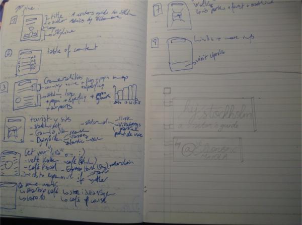 notebook with zine design